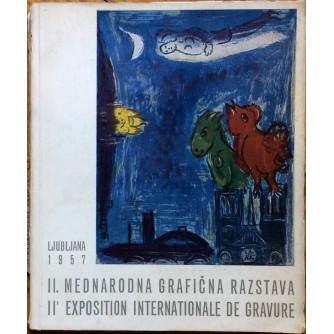 DRUGA MEDNARODNA GRAFIČNA RAZSTAVA, MODERNA GALERIJA LJUBLJANA, 1957.