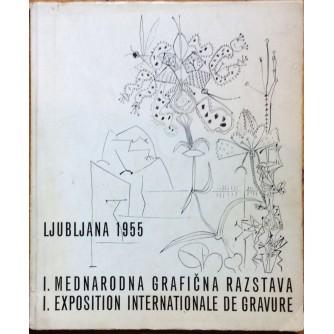 PRVA MEDNARODNA GRAFIČNA RAZSTAVA, MODERNA GALERIJA LJUBLJANA, 1955.