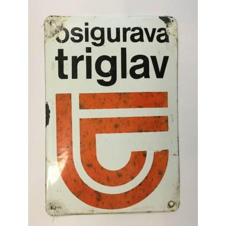 TRIGLAV - EMAJLIRANA PLOČICA, REKLAMA