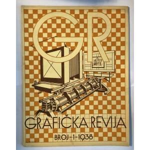 ČASOPIS GRAFIČKA REVIJA BROJ 1,  ZAGREB 1938.