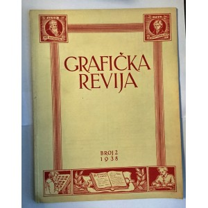 ČASOPIS GRAFIČKA REVIJA BROJ 2 ,  ZAGREB 1938.