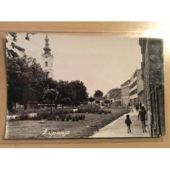 ŽUPANJA STARA RAZGLEDNICA CRKVA I PARK 1969.     R0241