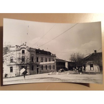 ŽUPANJA STARA RAZGLEDNICA ULICA ZGRADA I NATPIS 1962.    R0248