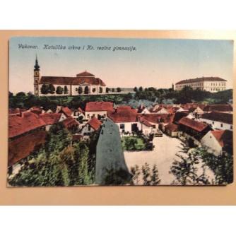 VUKOVAR STARA RAZGLEDNICA KATOLIČKA CRKVA I KR. REALNA GIMNAZIJA 1924/1928. R0302