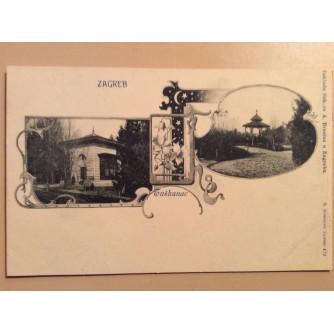 ZAGREB STARA RAZGLEDNICA TUŠKANAC PRIJE 1904.  R0374