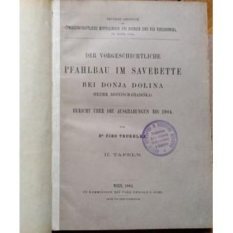ĆIRO TRUHELKA,  DER VORGESCHICHTLICHE PFAHLBAU UM SAVE BETTE  BEI DONJA DOLINA,  BOSANSKA GRADIŠKA,  1904.   SA KARTAMA POLJOPRIVREDNIH DOBARA  I PRILOZIMA