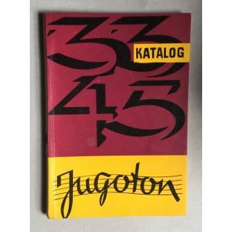 JUGOTON, KATALOG GRAMOFONSKIH PLOČA, ZAGREB, 1961.