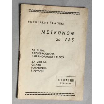 POPULARNI ŠLAGERI, METRONOM ZA VAS, SVESKA 45, 1961.