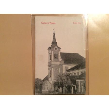 VALPOVO STARA RAZGLEDNICA ŽUPNA CRKVA PRIJE 1918.