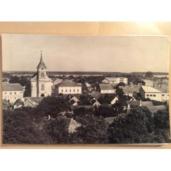 VALPOVO STARA RAZGLEDNICA PANORAMA CRKVA 1968.