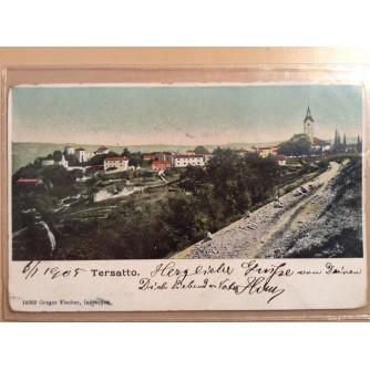 RIJEKA TRSAT STARA RAZGLEDNICA TERSATTO 1905.
