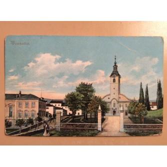 RIJEKA TRSAT STARA RAZGLEDNICA CRKVA OKOLICA 1909.