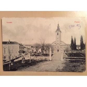 RIJEKA TRSAT STARA RAZGLEDNICA CRKVA  1910.