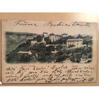 RIJEKA TRSAT STARA RAZGLEDNICA SCHLOSS TERSATTO FIUME 1899.