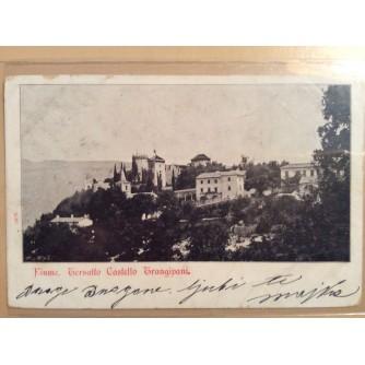 RIJEKA TRSAT STARA RAZGLEDNICA FIUME TERSATTO CASTELLO TRANGIPANI DVORAC 1904.