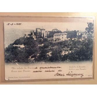 RIJEKA TRSAT STARA RAZGLEDNICA DVORAC FIUME TERSATTO CASTELLO SCHLOSS VON TERSATTO UN SALUTO DA FIUME GRUSS AUS FIUME 1900.