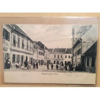 KRAPINA STARA RAZGLEDNICA MAGISTRATSKA ULICA 1910.