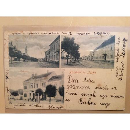JASKA JASTREBARSKO STARA RAZGLEDNICA GLAVNA ULICA KOTARSKI SUD LJEKARNA 1902.