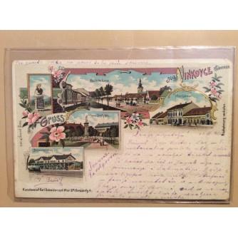 VINKOVCI STARA RAZGLEDNICA HOTEL LEHRNER DEUTSCHE GASSE FRANZ-JOSEFPLATZ BAHNRESTAURATION 1900.
