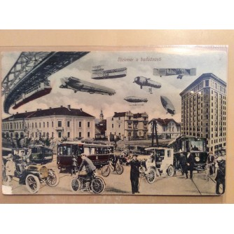 BJELOVAR STARA RAZGLEDNICA BJELOVAR U BUDUĆNOSTI 1912.