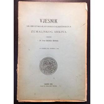 IVAN BOJNIČIĆ KNINSKI, VJESNIK KR. HRVATSKO-SLAVONSKO-DALMATINSKOGA ZEMALJSKOG ARKIVA, GODINA XX. SVESKA 3., ZAGREB 1918.