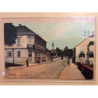 KRIŽEVCI STARA RAZGLEDNICA KRIŽEVAC SERMAGIJEVA ULICA 1909.