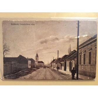 KRIŽEVCI STARA RAZGLEDNICA PRERADOVIČEVA ULICA 1948.