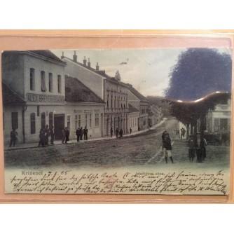 KRIŽEVCI STARA RAZGLEDNICA JELAČIĆEVA ULICA 1905.