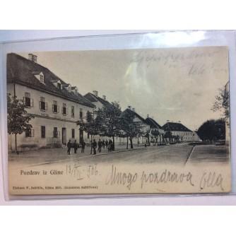 GLINA STARA RAZGLEDNICA POZDRAV IZ GLINE 1906.