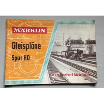 MARKLIN, GLEISPLANE, 3700 SPUR HO, 763/2, 1957.