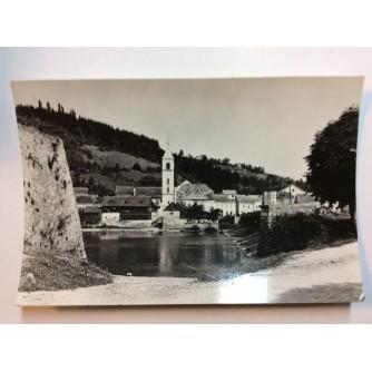 HRVATSKA KOSTAJNICA STARA RAZGLEDNICA POGLED S OBALE 1967.