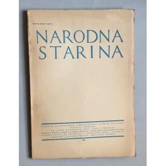 JOSIP MATASOVIĆ, NARODNA STARINA, ČASOPIS ZA HISTORIJU I ETNOGRAFIJU JUŽNIH SLOVJENA, BROJ 35, ZAGREB, 1939.