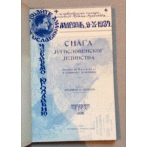 MILOVAN ŠUNDIĆ, SNAGA JUGOSLOVENSKOG JEDINSTVA, POGLEDI NA PROŠLOST I SADAŠNJOST JUGOSLOVENA, POSVETA AUTORA, PITTSBURG, 1935.