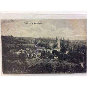 VUGROVEC STARA RAZGLEDNICA POZDRAV IZ VUGROVCA PANORAMA CRKVE 1915.