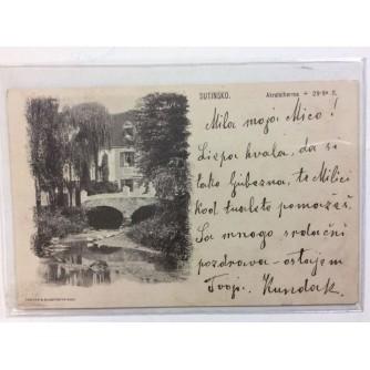 SUTINSKO STARA RAZGLEDNICA KUPALIŠTE SUTINSKE TOPLICE AKRATOTHERMA 1901.