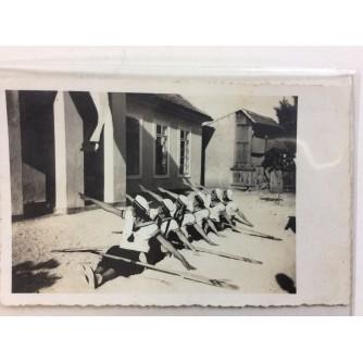 STENJEVAC STARA RAZGLEDNICA UČENJE VESLANJA NA SUHOM I POZIRANJE ZA PROMO FOTOGRAFIJU 1932.