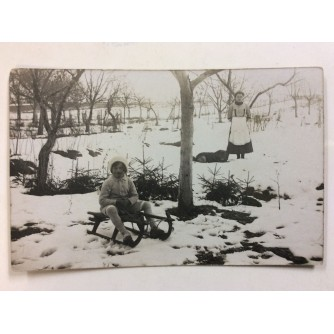 JASTREBARSKO STARA RAZGLEDNICA SANJKANJE 1917.
