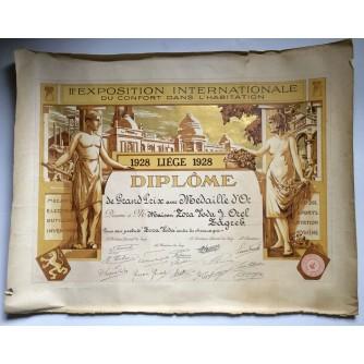 STARA DIPLOMA II EXPOSITION INTERNATIONALE DU CONFORT DANS L'HABITATION 1928