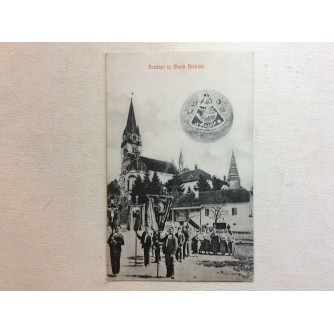 MARIJA BISTRICA STARA RAZGLEDNICA POZDRAV IZ MARIE BISTRICE CRKVA PROCESIJA 1908.