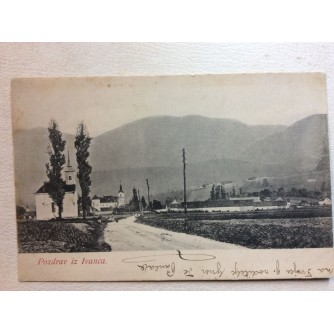 IVANEC STARA RAZGLEDNICA POZDRAV IZ IVANCA 1910.