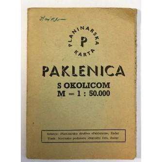 PAKLENICA S OKOLICOM M = 1 : 50.000 - PLANINARSKA KARTA, ZADAR